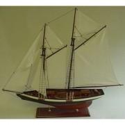 Merkloos Decoratie houten model tweemaster zeilschip 74 cm