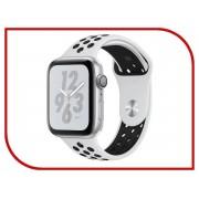 Nike Умные часы APPLE Watch Nike+ Series 4 44mm Silver Aluminium Case with Pure Platinum-Black Nike Sport Band MU6K2RU/A
