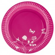 Farfurii roz pentru petrecere 23 cm, amscan rm551909, set 8 buc