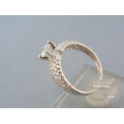 Zlatý prsteň elegantný biele zlato zirkóniky DP57326B