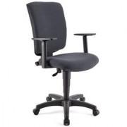 Ofisillas Silla de oficina ATLAS PLUS, respaldo y brazos ajustables, en tela gris