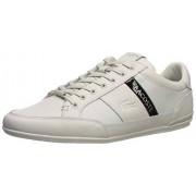 Lacoste Chaymon Zapatillas para Hombre, Ultra Blanco/Negro, 7 US