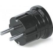 Földelt dugvilla Műanyag Fekete 130.2063-N - Scame