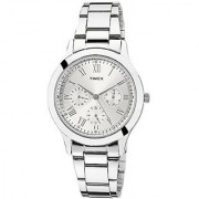 Timex Quartz Silver Round Women Watch TW000Q806