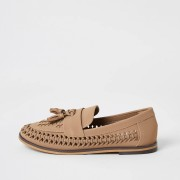 river island Boys Brown woven tassel loafers (4)