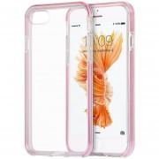 Funda Case Para Iphone 7 / IPhone 8Transparente Con Bumper Reforzado-Transparente Con Rosa