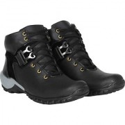 Sofiya Fashions Black boots for Boys-mens for Casual Stylish occassions party office long drive for trecking