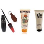 ADSwaterproof eyeliner / scrub (50gm) / white invisible foundation with Ashra keychain