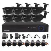 Kamerový set Securia Pro AHD8CHV1 AHD DVR 8 analogové kamery - černá