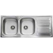 apell Tm1162irpc Lavello Cucina 2 Vasche Incasso Con Gocciolatoio Dx Larghezza 116 Cm Materiale Acciaio Inox Finitura Prelucida - Serie Atmosfera Tm1162irpc