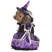 Rubie's Costume Halloween Classics Collection Pet Costume, Large, Purple Witch Dress and Hat