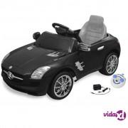 vidaXL Električni Mercedes Benz SLS AMG crni, 6 V s daljinskim upravljačem