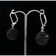 Lafira stříbrné náušnice Swarovski Ball Black 008