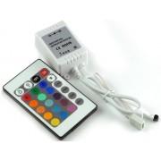 RGB led szalag vezérlő, 72W, infrás 24 gombos Life Light Led