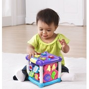 V Tech Early Education Toy Busy Learners Activity Cube Purple Music Toy For Kids