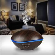 Kék bálna aroma diffúzor, sötét fa mintázatú (sötét) 500 ml-es