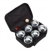 Set Boule, 6 bile metalice, negru, Everestus, JD02GH, metal, nailon, saculet de calatorie inclus