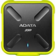 SSD Extern A-DATA SD700, 256GB, USB 3.1, rezistent la apa si praf - certificat IP68 (Galben)