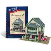 Puzzle 3D CubicFun, Marea Britanie Sandwich Shop, 36 de piese, 3 ani+