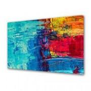 Tablou Canvas Premium Abstract Multicolor Culori Vibrante Decoratiuni Moderne pentru Casa 80 x 160 cm