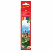 Creioane Colorate 6 culori Eco Faber-Castell