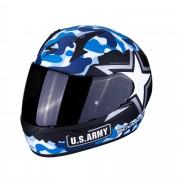 Scorpion Casco Moto Integrale Exo-390 Army Matt Black Blue