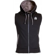 Gorilla Wear Springfield Sleeveless Zipped Hoodie - Zwart - XXL