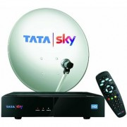 Tata Sky HD Set Top Box with 1 Year Dhamal Mix Pack 1 Month HD Free