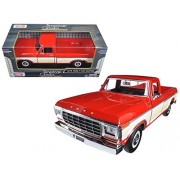 Maisto 1979 Ford F-150 Pickup Truck 2 Tone Red/Cream 1/24 Model Car by Motormax