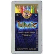 Koh-I-Noor Matite colorate Magic Progresso. Scatola in metallo 12...