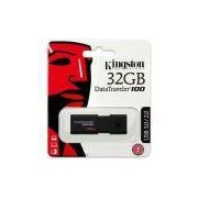 Pendrive 32gb Usb 3.0 Kingston Datatraveler 100 Generation 3 Dt100g3/32gb Preto