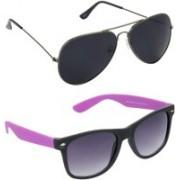 Redleaf Aviator, Wayfarer Sunglasses(Black)