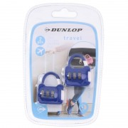 Dunlop 2x Blauwe reistassen bagagesloten met cijferslot