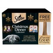 Sheba Caja regalo navideña para gatos - 1 unidad (4 productos)