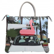 Gabs Borsa Donna a Mano con Tracolla G3 3 Borse in 1 Fiat 500 South Beach Media