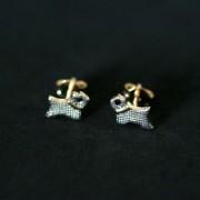 Semi Earring Jewelry Gold Plated Dog