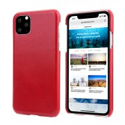Retro Matte Genuine Leather Coated PC Hard Case for iPhone 11 6.1 inch (2019) - Red