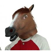 BengPro Novelty Latex Rubber Creepy Horse Head Mask Halloween Party Costume Decorations