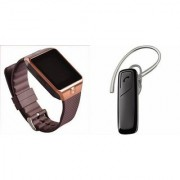 Mirza DZ09 Smartwatch and HM1100 Bluetooth Headphone for SONY xperia z4v(DZ09 Smart Watch With 4G Sim Card Memory Card| HM1100 Bluetooth Headphone)