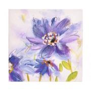 Tablou pictat manual Shades Blue 30x30 cm