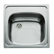 Chiuvetă Teka Universal E 465 x 465 1B, 1 cuvă, 46.5x46.5 cm, Microtexturat, PA130M1402