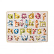 Wooden Letters Puzzle Game Educational Alphabet Board Teaching AIDS Alphabet Puzzle Toys for Kids