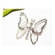 Broche Papillon Argent