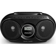 Microsistem audio Philips AZ318B12 CD Player Tuner FM USB AUX 3W Negru
