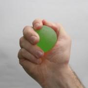 Kézerősítő zselés labda / 50mm átmérőjű masszázslabda közepes erősség zöld