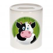 Bellatio Decorations Dieren spaarpot koe voor kinderen 9 cm