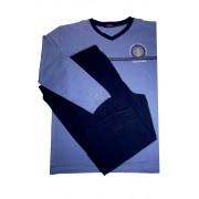 Vintage pyžamo s dlouhým rukávem AH7815-V XXL modrá