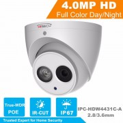 HiSecu H.2.65 IPC-HDW4431C-A Built-in MIC HD 4MP IR 30m network IP Camera security cctv Dome Camera Support POE HDW4431C-A