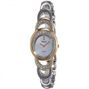 Seiko Solar Analog Mother Of Pearl Dial Womens Watch-Sup296P1