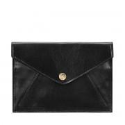 Maxwell-Scott schwarze Damen Reisemappe aus Leder - Ortona - Reisedokumententasche, Reisebrieftasche, Reisepasscover, Reisepassetui
